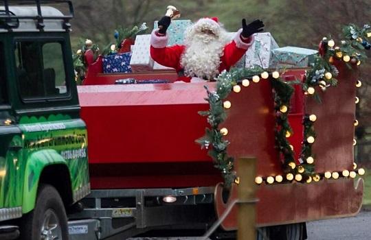 Santa drive-by 540x350